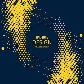 Fondo en estilo moderno de círculos amarillos
