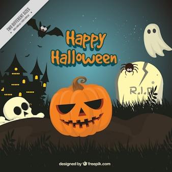 Fondo escalofriante para halloween