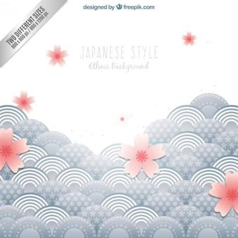 Fondo étnico en estilo japonés