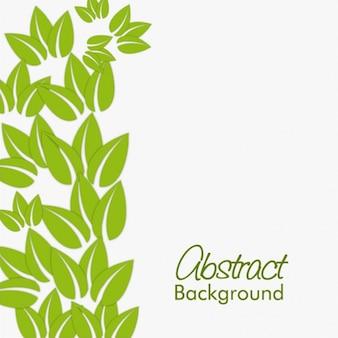 Fondo fantástico con hojas verdes