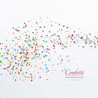 Fondo festivo de confeti