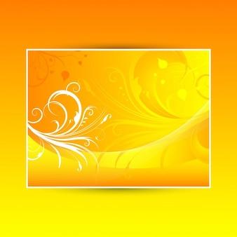 Fondo floral abstracto con colores cálidos del verano