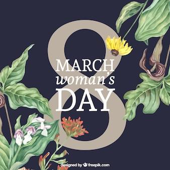 Fondo floral bonito del día de la mujer