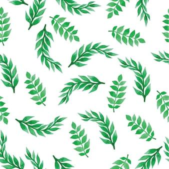 Fondo floral con hojas de acuarela