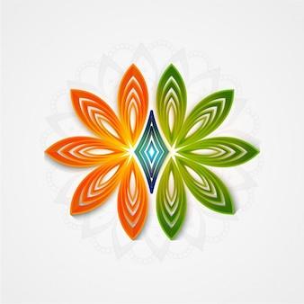 Fondo floral con los colores de la bandera de la india