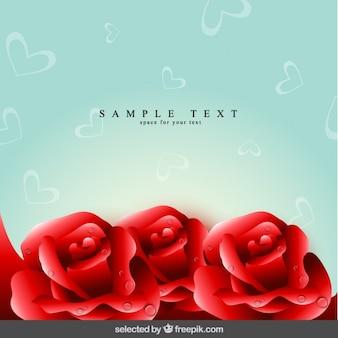Fondo floral con rosas