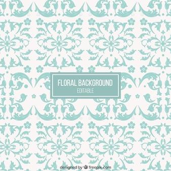 Fondo floral ornamental en estilo retro
