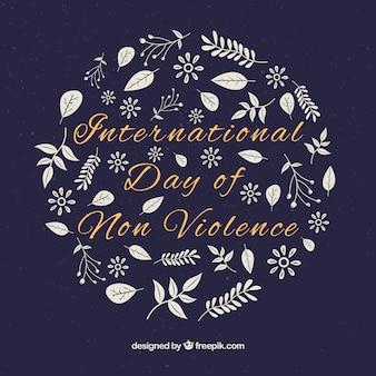 Fondo floral para el día de la no violencia
