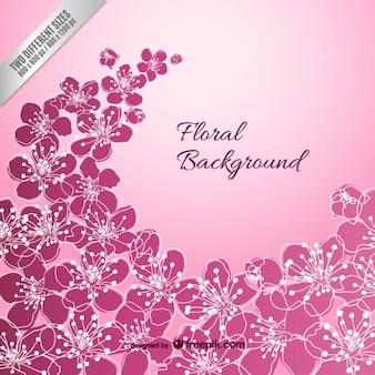 Fondo floral violeta