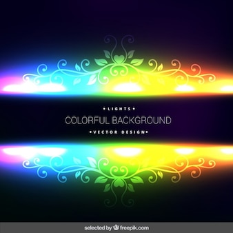 Fondo fluorescente Ornamental