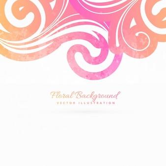 Fondo foral rosa