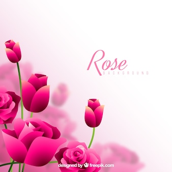 Fondo genial con rosas rosas decorativas