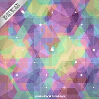 Fondo geométrico colorido en estilo abstracto