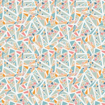 Fondo geométrico con triángulos pequeños y líneas blancas