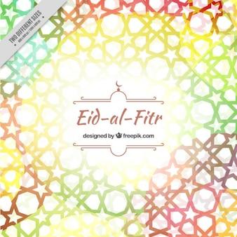Fondo geométrico de colores de final de ramadan