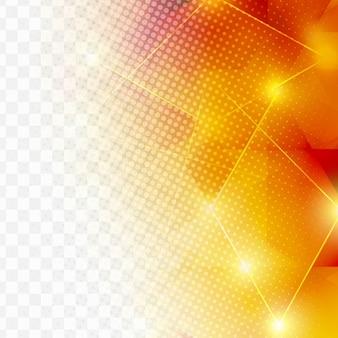 Fondo geométrico naranja con puntos de semitono