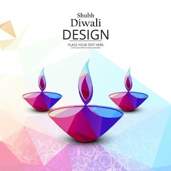 Fondo geométrico para diwali