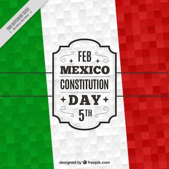 Fondo geométrico para el día de la constitución de méxico