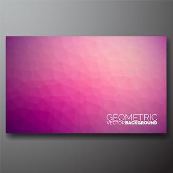 Fondo geométrico rosa