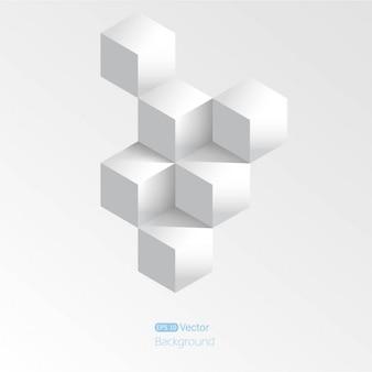 Fondo gris con cubos 3d