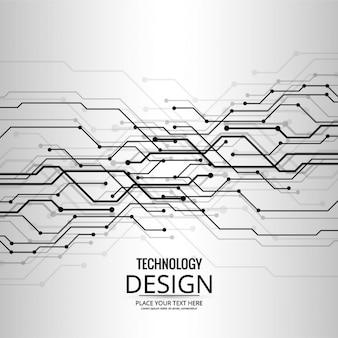 Fondo gris tecnológico de formas abstractas