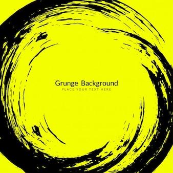 Fondo grunge amarillo y negro
