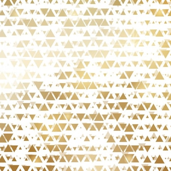 Fondo hecho de triángulos dorados