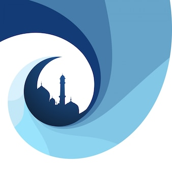 Fondo islámico azul