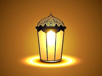 Fondo islámico simple con linterna