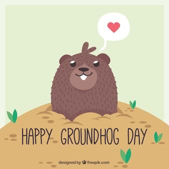 Fondo lindo de feliz día de la marmota