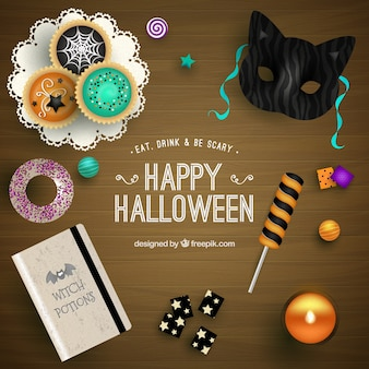 Fondo lindo de feliz halloween