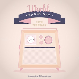 Fondo lindo del día mundial de la radio
