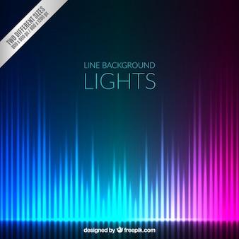 Fondo lineal de luces