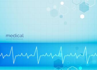 Fondo médico con electrocardiograma