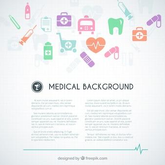 Fondo médico plantilla