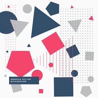 Fondo memphis con formas poligonales