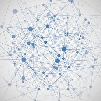 Fondo moderno abstracto de moléculas