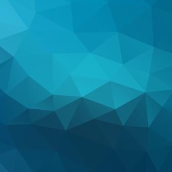 Fondo moderno azul poligonal