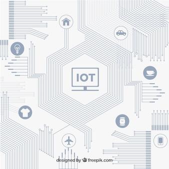Fondo moderno de circuito y conectividad