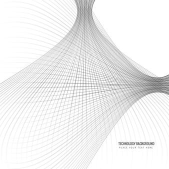 Fondo moderno de líneas onduladas