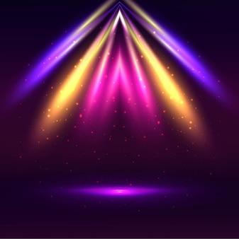 Fondo moderno de luces coloridas