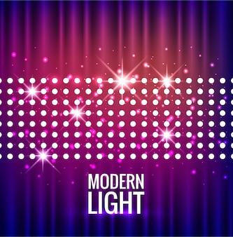Fondo moderno de luces