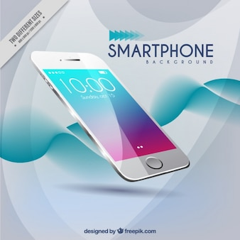 Fondo moderno de ondas de smartphone