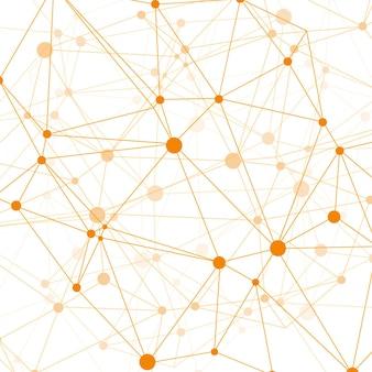 Fondo moderno de tecnología con puntos naranjas