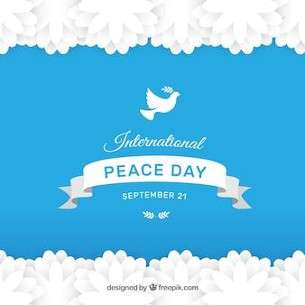 Fondo moderno para el día internacional de la paz