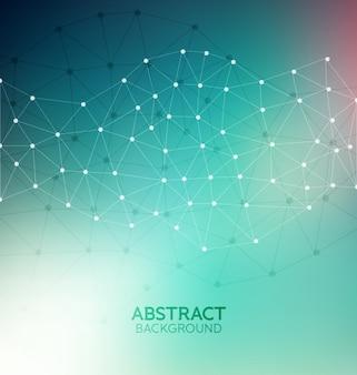 Fondo molecular abstracto
