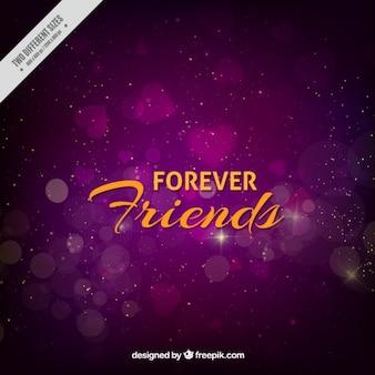 Fondo morado bokeh del día de la amistad