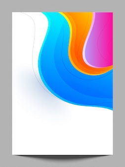 Fondo multicolor con olas