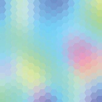 Fondo multicolor hecho de hexágonos