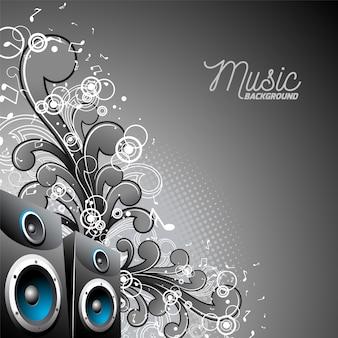 Fondo musical con altavoces